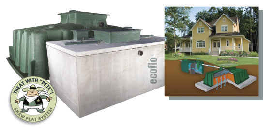 Ecoflo header for Ecoflow septic system